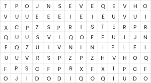 Three Letter Words Puzzle