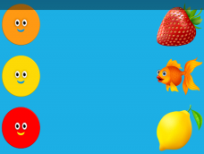 Orange Strawberry Yellow Fish Red Lemon