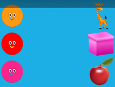 Orange Giraffe Red Box Pink Apple