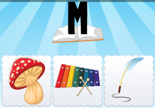 M Mushroom Xylophone Quill