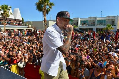 Chris Brown Onstage