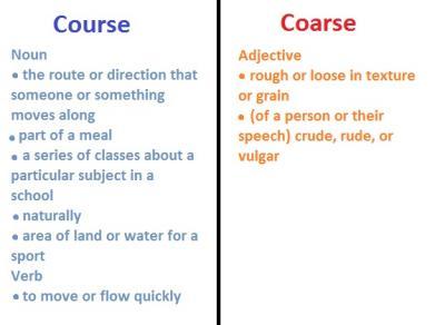 course coarse