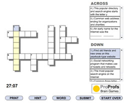 ProProfs Crossword Puzzle