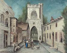 The Curfew Tower And Old Vicarage, Barking, 1840