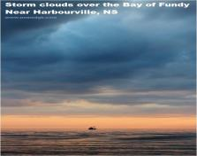 Storm Clouds Over The Bay Of Fundy - Near Harbourville, Ns