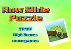 Row Slide Puzzle Game