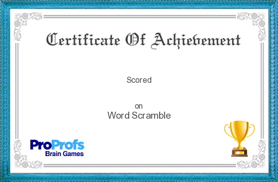 isabelpola's Certificate on Los evangelistas (2) Word Scramble Game