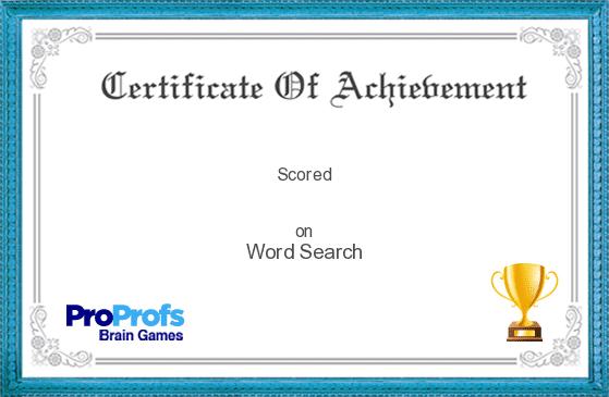 Game Score Certificate